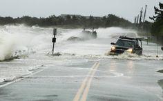 Imagen impactante del huracán Sandy. Carretera