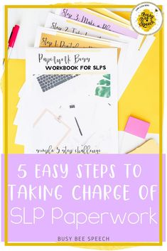 Take charge of your SLP paperwork with this FREE and EASY 5 step challenge. Learn how to track all of your speech therapy data and responsibilities in a way that works for you!