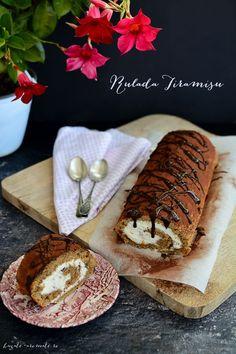 Ruladă Tiramisu Romanian Desserts, Romanian Food, Yule Log, Sweet Pastries, Pastry Cake, Food Cakes, Coconut Flour, Cake Recipes, Food Photography