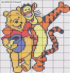 Winnie and Tigger perler bead pattern