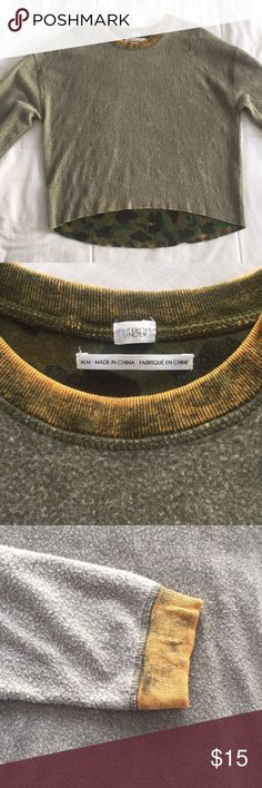 Urban Outfitters Camo Green Sweatshirt Urban Outfitters Out from Under Camo Green Sweatshirt; in good condition; fits like a SMALL Urban Outfitters Tops Sweatshirts & Hoodies