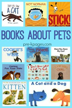 Books about pets for preschool. A list of the best books about pets to read aloud in your preschool, pre-k, or kindergarten classroom.