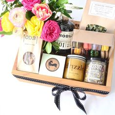 """""""INDULGE gift box is all about the eats for Valentine's Day! Comes in a version for him or her. You can pre-order in our online shop to have delivered or…"""""""