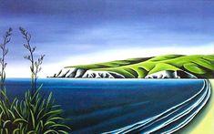 Harakeke by Diana Adams for Sale - New Zealand Art Prints Nz Art, Art For Art Sake, New Zealand Landscape, Large Art Prints, New Zealand Art, Popular Art, Naive Art, Beach Art, Surreal Art