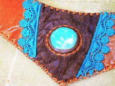 BOHO UTILITY BELT  bohemian hippie indie detachable pouch