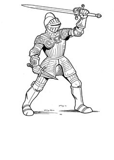 knights learn to use the sword coloring pages for kids printable castles and knights coloring pages for kids - Castle Knights Coloring Pages