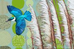 Kotare by Jane Galloway.  Wall Art print from The Little Art Gallery, Tairua, Coromandel, NZ