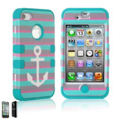 For Apple iPhone 4 4S Hybrid Rubber Rugged Combo Matte Case Hard Cover Protector