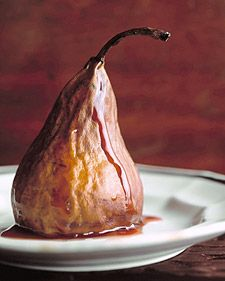 pears in ruby port and honey autumn fall events weddings elegant soirees