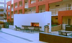 Fireplace Photos for Ideas Fireplace Design, Fireplace Glass, Condominium, Futuristic, Townhouse, Fireplace Makeovers, Multi Story Building, Mansions, Outdoor Decor