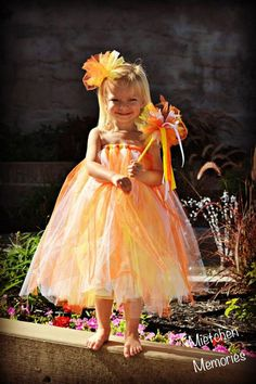 Candy Corn Princess Tutu Dress with wand and Hair by ZoesBowtique7, $40.00