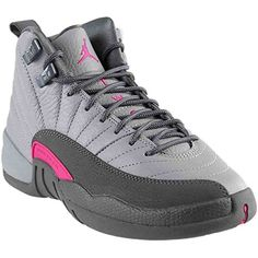 f4795b4159449a Nike Air Jordan 12 Retro GG Grey Pink Big Girls Basketball Shoes 510815029  4     Check this awesome product by going to the link at the image.