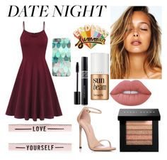 """""""Summer Date Night"""" by alcoholyshit on Polyvore featuring ban.do, Benefit, Christian Dior, Lime Crime, Stuart Weitzman, Bobbi Brown Cosmetics, Summer, beach, date and girly"""