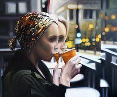 A découvrir au 8ème Salon de Peinture toutes techniques en ligne sur www.myrankart.com  Reflet De Terasse by Matthieu Koga