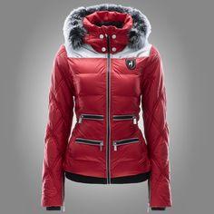 Toni Sailer Cleo Fur Jacket dark red