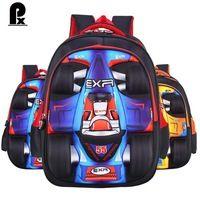 new orthopedics schoolbags kids bags children backpacks waterproof pu boys cute fashion cartoons bag cars cartable enfant