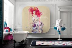 Wall Sticker Collection Inspired by The Works of Toulouse-Lautrec: Circus - http://freshome.com/2013/03/12/mesmerizing-wall-sticker-collection-inspired-by-the-works-of-toulouse-lautrec-circus/