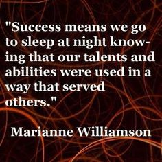 Success is different for everyone