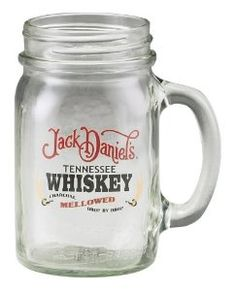 jack daniels mason jar mug. Cigars And Whiskey, Jack Daniels Whiskey, Bourbon Whiskey, Alcohol Games, Jack Daniel's Tennessee Whiskey, Drinking Jars, Wine And Liquor, Jack Black, Bottle Design