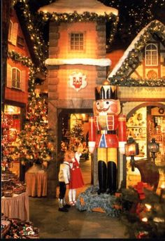Kathe Wohlfahrt's Christmas shop, Germany...loved this store so much. Many ornaments on our tree from there!