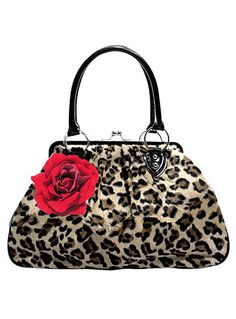 *Just Restocked!* Lucky Me Kiss Lock Leopard Purse at ShopPlasticland.com