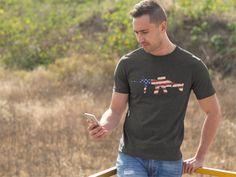 Men's American Gun Shirt – Centurion Apparel  #Politics #Fashion #Trump #Guns