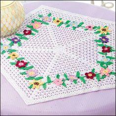 Flower Garden Doily in Aunt Lydia's Crochet Thread from Crochet World magazine