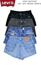 70d5698e DISTRESSED LEVIS VINTAGE WOMENS HIGH WAISTED DENIM SHORTS SIZE 6 8 10 12 14  16 1