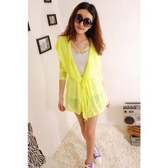 New Fashion Women Candy Color Slim Beach Sun Protection Clothing Tops
