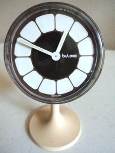 Bulova desk clock. Was this inspiration for Ikepod's teeth watch?