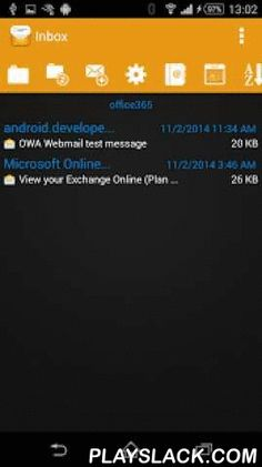 OWA Webmail  Android App - playslack.com ,  The OWA Webmail is an Android mail client app. It can connect to an Outlook Web App (OWA) server.What is an OWA server? If you have access to a Microsoft Exchange server you usually use Microsoft Outlook on your desktop PC. This connection is through an internal net. If you are on the go you usually are not able to use Microsoft Outlook. There is an extension to Microsoft Exchange server to give access on the internet through a web interface…