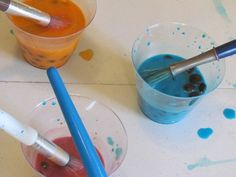 Painting with M's (sort, count, and paint)