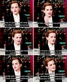 Emma Watson - Do you get nervous if you see yourself in the movies?