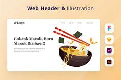 Restaurant Web Header by DimoGraphic on Envato Elements Business Dashboard, New Mobile Homes, Restaurant Web, Application Design, Flat Illustration, Header, Mobile App, Banner, Order Food
