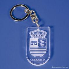 Llavero de metacrilato del escudo de Dos Torres #ValleDeLosPedroches    http://delospedroches.es/es/metacrilato/168-llavero-metacrilato-escudo-ll94.html