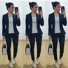 31 ideas closet modernos nia for 2019 Casual Sporty Outfits, Work Casual, Casual Chic, Casual Looks, Cool Outfits, Trajes Business Casual, Business Casual Outfits, Professional Outfits, Work Fashion