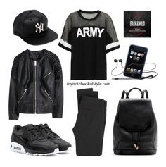 """Outfit of the night (listening to BTS's Cypher Pt.3 on repeat)"" by mynotebookofstyle ❤ liked on Polyvore"