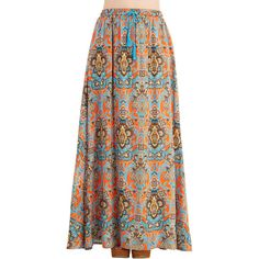 70s Long Maxi Groove Got A Hold On Me Skirt By ModCloth 25 CAD