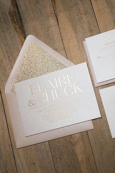 Foil  - Formal Rose Gold Wedding Invitations - SAMPLE (Blaire)