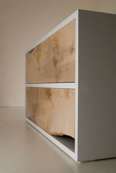 natural wood with live edge corners - modern dresser | @SingleFin_