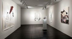"""""""Not for long, my forlong"""" gallery in the finale of Work of Art season 2. The artist is Kymia Nawabi."""