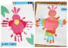 Tutorial: Handprint Parrot Project for Kids #summerofjoann