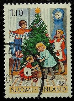 Items similar to Children decorating Christmas tree -Handmade Framed Postage Stamp Art 18046 on Etsy Christmas Mail, Vintage Christmas Cards, Christmas Crafts, Xmas, Christmas Tree, Postage Stamp Design, Commemorative Stamps, Vintage Stamps, Stamp Collecting