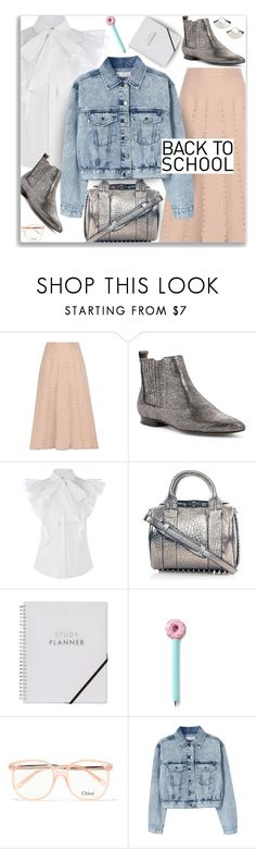 """""""Back to fashion school"""" by nineseventyseven ❤ liked on Polyvore featuring Valentino, H London, Alexander Wang, Chloé, MANGO and BackToSchool"""