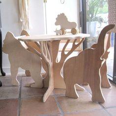 Baum-Tabelle-bereit zum Schiff-in Birke von The von palomasnest