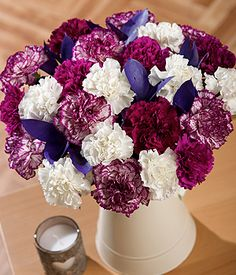 Damson Delight XL | Carnations By Post | Bunches.co.uk~ My favourite website for my orders to family & friends to the UK... been using them for over 5yrs & they have never let me down or disappointed! Great service, great flowers, great prices!!
