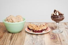 """Healthy (and easy) desserts! Must try the peanut butter banana """"ice cream,"""" avocado chocolate """"mousse"""""""