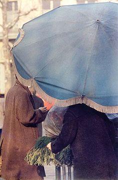 Saul Leiter, Blue Umbrella, c. 1950
