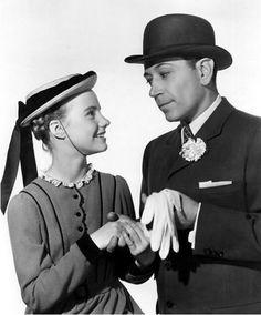 Peggy Ann Garner & George Raft (Nob Hill 1945) Henry Hathaway. Photo 20th Century Fox Corporation.