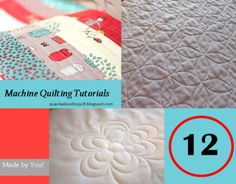 12 great machine quilting tutorials for those without long-arm machines
